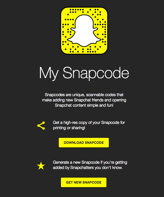 snapcodes tutorial