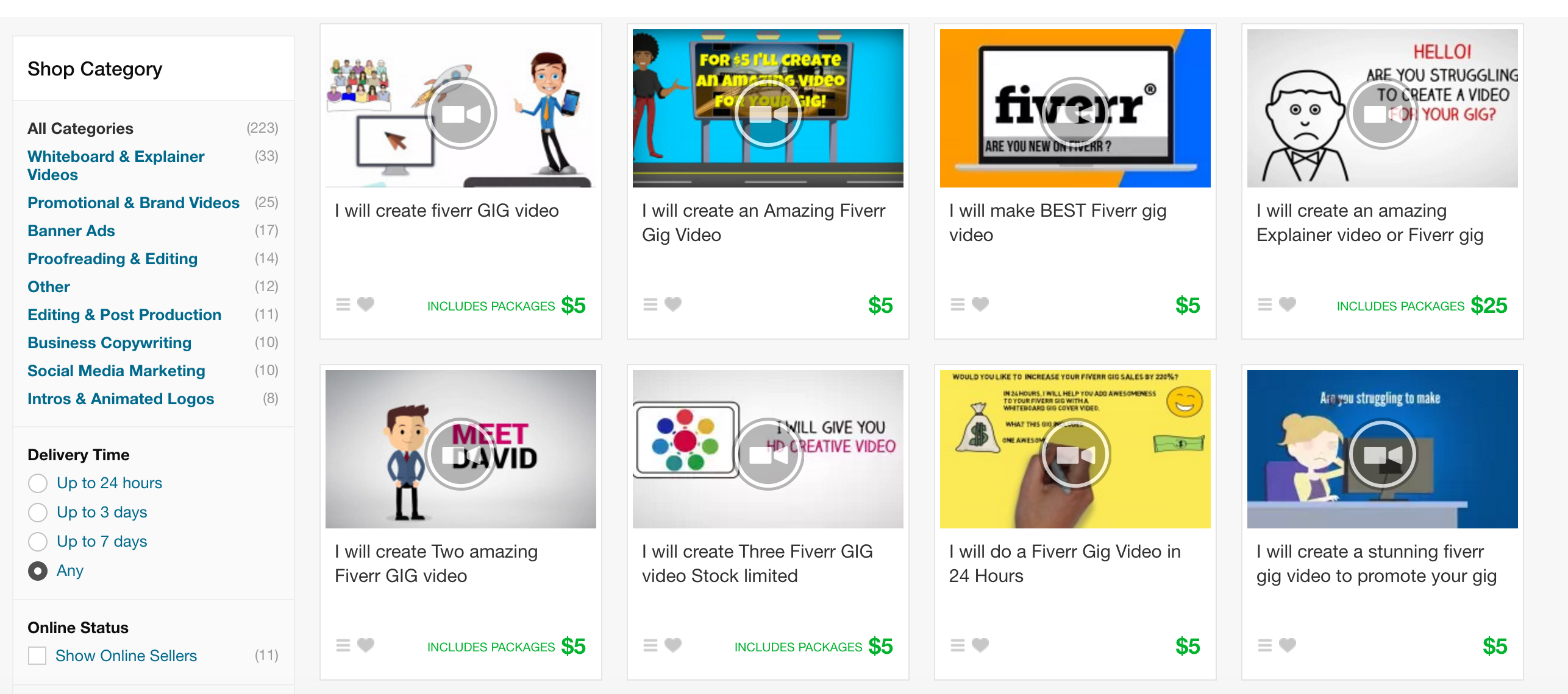 create great fiverr gigs