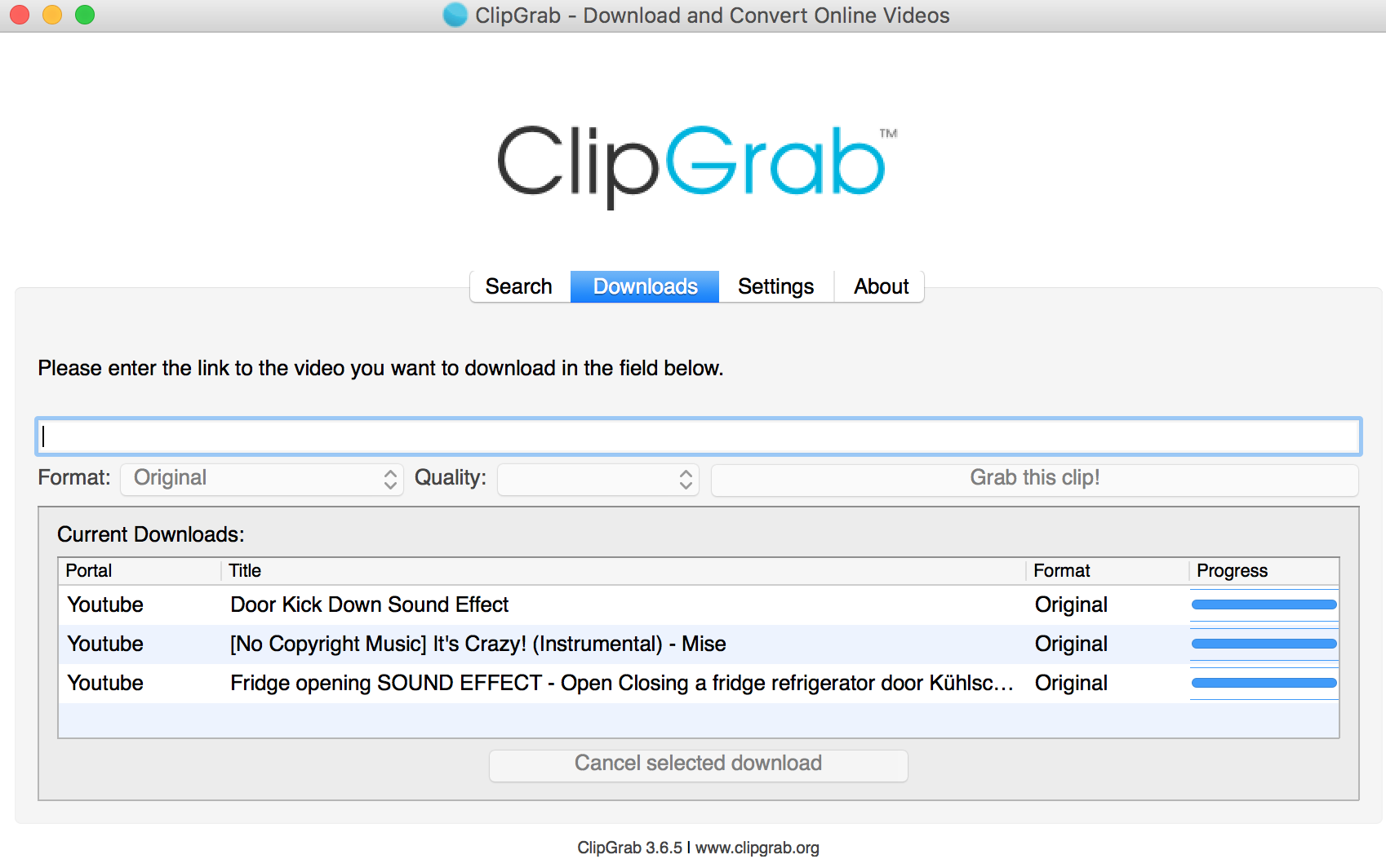 how to save youtube videos with clipgrab