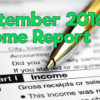 September 2016 Income Report