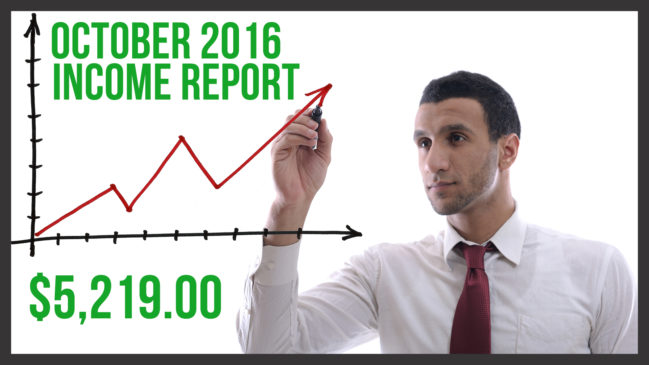 October 2016 Income Report